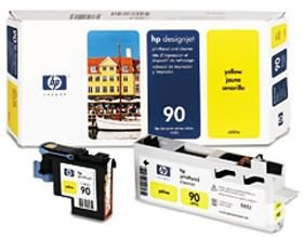 Image 1 of Hp No 90 Printhead And Cleaner Yellow C5057a C5057A