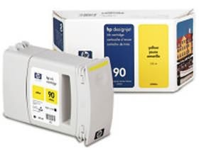 Image 1 of Hp No 90 Ink Cartridge 225 Ml Yellow C5064a C5064A