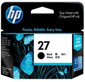 Image 1 of Hp C8727aa Hp No.27 Black Inkjet Cartridge C8727AA