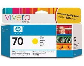 Image 1 of Hp No 70 Ink Cartridge 130 Ml Yellow C9454a C9454A