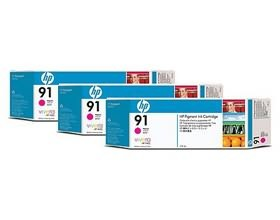 Image 1 of Hp 91, 3 Ink Multi Pack Magenta C9484a C9484A