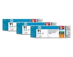 Image 1 of Hp 91, 3 Ink Multi Pack Light Cyan C9486a C9486A