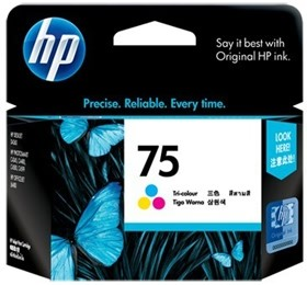Image 1 of Hp Cb337wa Hp 75 Tricolor Ink Cartridge CB337WA