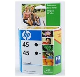 Image 1 of Hp Cc625aa Hp 45 Black Ink Cartridge Twinpack-replacement Of Sa293aa CC625AA