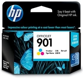 Image 1 of Hp 901 Ink Cartridge Tri-color Cc656aa CC656AA