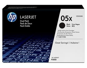 Image 1 of Hp Ce505x Toner Cartridges Dual Pack Ce505xd CE505XD