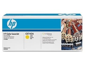 Image 1 of Hp Ce742a Toner Cartridge Yellow Ce742a CE742A