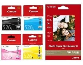 Image 1 of Canon Cli526c M Y Bk Pp2014x6-50 Cli526vp CLI526VP