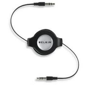 Image 1 of Belkin Iph/ Ipod/ Mp3 3.5mm/ 3.5mm Retract Cable F3x1980-4.5-blk F3X1980-4.5-BLK