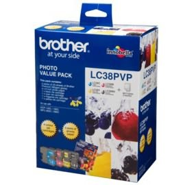 Image 1 of Brother Lc38pvp Lc-38 Photo Value Pack For Mfc-145c/ 165c LC-38PVP