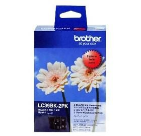 Image 1 of Brother Lc39bk2pk Blk Ink 2pack Lc39bk2pk LC-39BK2PK