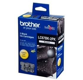 Image 1 of Brother Lc67bk2pk Lc-67 Twin Pack For Dcp-385c LC-67BK 2PK