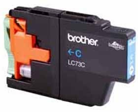 Image 1 of Brother Lc73c Cyan High Yield Ink Cartridge - Up To 600 Pages LC-73C
