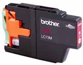 Image 1 of Brother Lc73m Magenta High Yield Ink Cartridge - Up To 600 Pages LC-73M