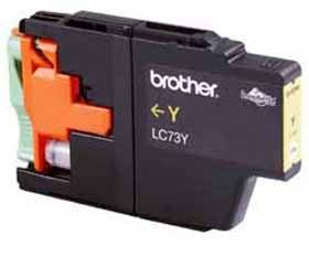 Image 1 of Brother Lc73y Yellow High Yield Ink Cartridge - Up To 600 Pages LC-73Y