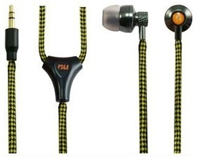 Image 1 of Nu Metal Waterproof (ipx7) All-weather Earphone Kit Yellow/ Black Line