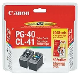 Image 1 of Canon Pg40cl41vp 2 X Pg40 Pigment Black Ink Cartridges & 1 X Cl41 Fine Colour Ink Cartridge Pg40cl41vp PG40CL41VP