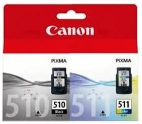 Image 1 of Canon Pg510cl511cp 1 X Pg510 Black Ink Cartridge & Cl511 Colour Ink Cartridge Pg510cl511cp  PG510CL511CP