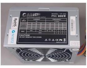 Image 1 of Casecom Power Supply 600w Psu 3*ide+20-4pin+3*s, 2yr Warranty Atx600w ATX600W