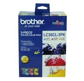 Image 1 of Brother Lc38cl3pk Lc-38 Colour Value Pack For Dcp-145c/ 165c LC-38CL 3PK