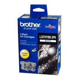 Image 1 of Brother Lc67hybk2pk Twin Pack Blk High Yield Ink Cartridge For Mfc-5890cn/ 6490cw