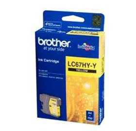 Image 1 of Brother Lc67hyy Yellow High Yield Ink Cartridge For Mfc-5890cn/ 6490cw
