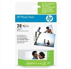 Image 1 of Hp 28 Photo Pack Glossy 4x6.5 Ap 25 Sht Q8893aa Q8893AA