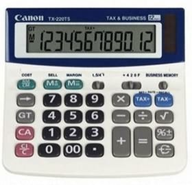 Image 1 of Canon Tx220ts 12 Digit Dt Large Lcd Calc W/ Ta Tx220ts TX220TS