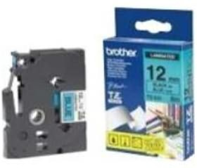 Image 1 of Brother Tze531 12mm Black On Blue Tz Tape TZE-531
