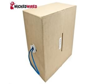 Image 1 of Wicked Wired 305m Blue CAT5E UTP Stranded Network Cable Roll WW-N-CAT5-ROLL305M WW-N-CAT5-ROLL305M