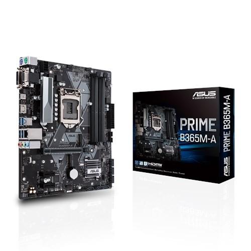 Image 1 of ASUS Intel LGA-1151 mATX motherboard with LED lighting (PRIME-B365M-A) PRIME-B365M-A
