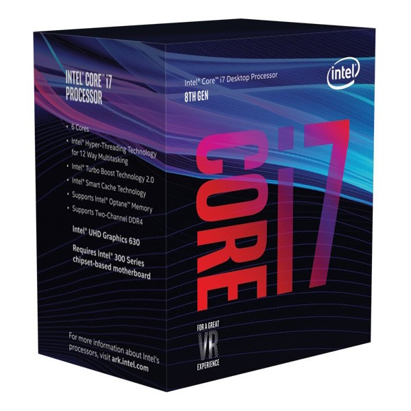 Image 1 of Intel Core I7-8700k 3.7ghz No Fan Unlocked S1151 Coffee Lake 8th Generation Boxed 3 Years Warranty - Systems Only Bx80684i78700k BX80684I78700K