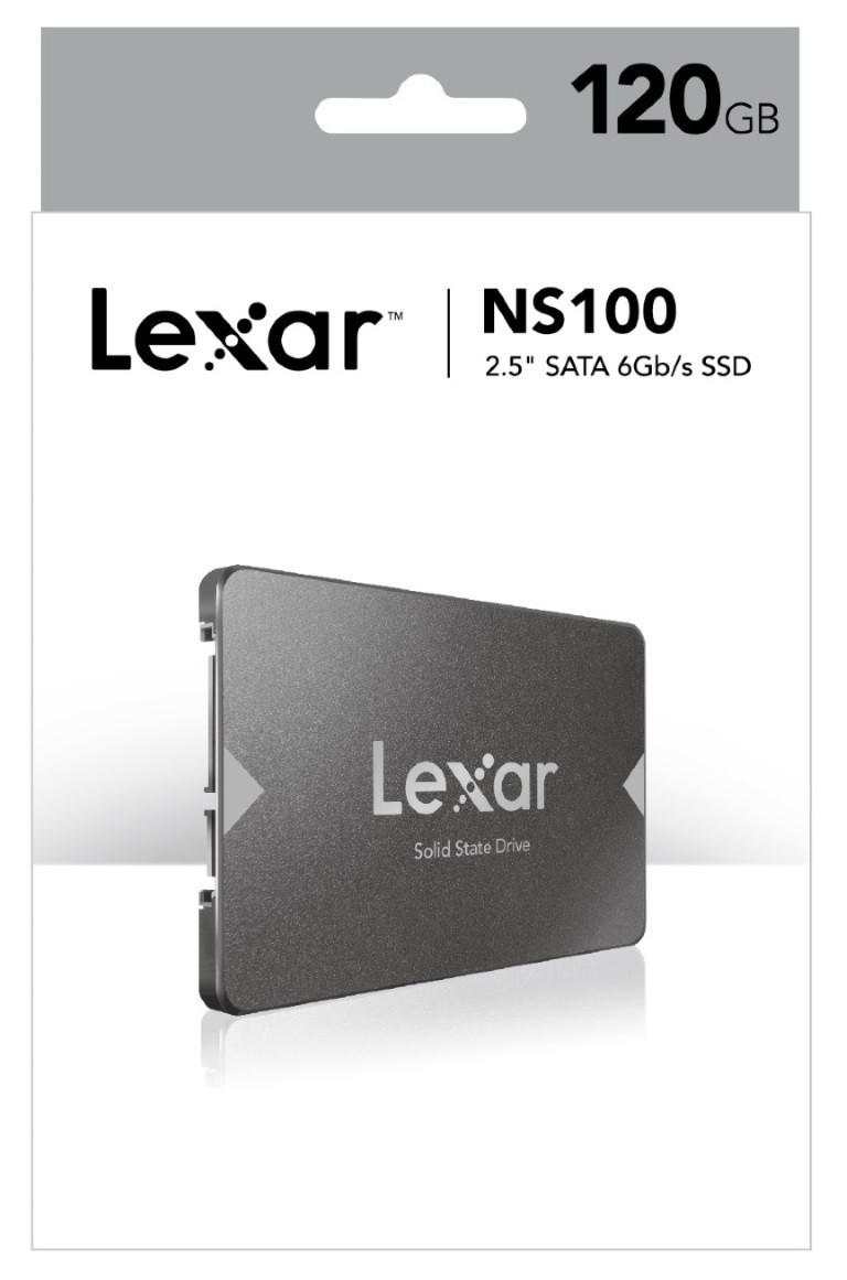 "Image 1 of Lexar Ns100 120Gb 2.5"" Sata Ssd - 520Mb/ S Read Shock/ Vibration Resistant Lns100-120Rbap LNS100-120RBEU"