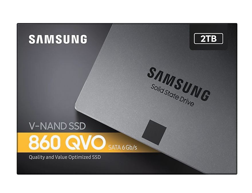 "Image 1 of Samsung 860 Qvo 2Tb V-Nand 2.5"". 7Mm Sata Iii 6Gb/ S R/ W(Max) 550Mb/ S/ 520Mb/ S Mz-76Q2T0Bw MZ-76Q2T0BW"