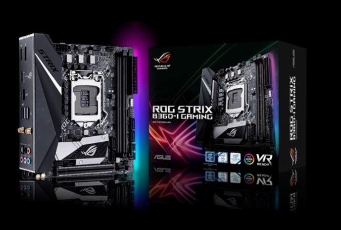 Image 1 of Asus Rog Strix B360-i S1151 Mitx Gaming Mb 2xddr4 1xpcie 1xm.2 4xusb3.1 2xusb2.0 1xdp 1xhdmi Rog ROG STRIX B360-I GAMING