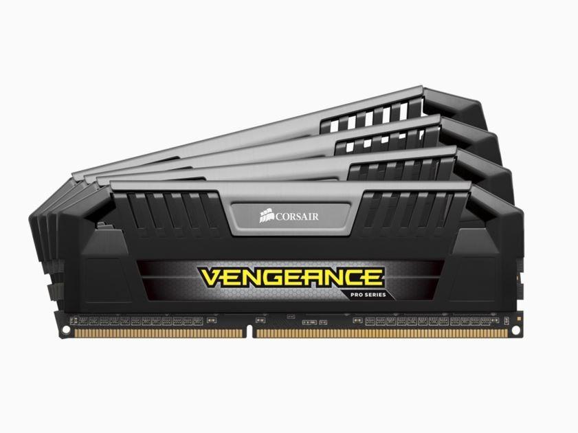 Image 1 of Corsair Vengeance Pro 32Gb (4X8Gb) Ddr3 1600Mhz C9 Desktop Gaming Memory Black Cmy32Gx3M4A1600C9 CMY32GX3M4A1600C9
