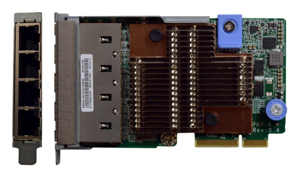 Image 1 of Lenovo Thinksystem 1Gb 4-Port Rj45 Lom For Sr650/ Sr630 7Zt7A00545 7ZT7A00545