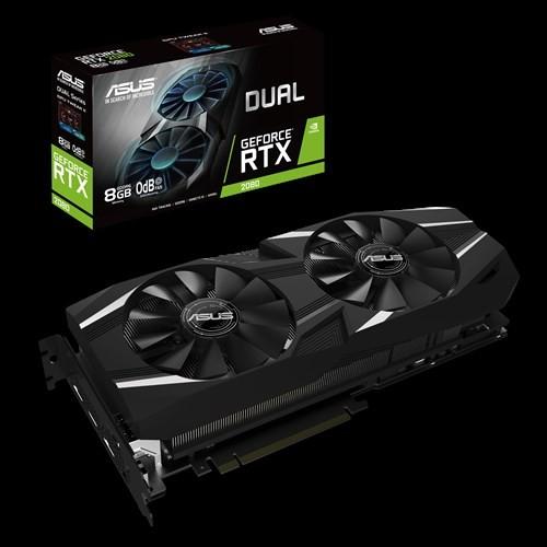 Image 1 of Asus Dual-rtx2080-8g Geforce Rtx2080 8gb Gddr6 Graphics Card Dual-rtx2080-8g DUAL-RTX2080-8G