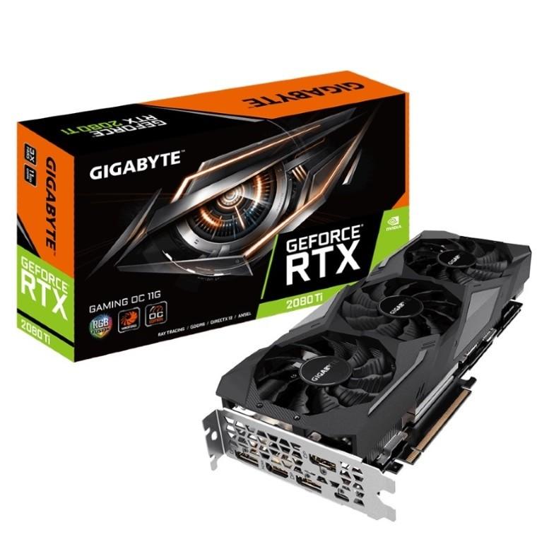 Image 1 of Gigabyte Nvidia Geforce Rtx 2080 Ti Gaming Oc 11Gb Gddr6 8K 7680X4320@60Hz 3Xdp1.4 Hdmi2.0 Usb-C GV-N208TGAMING-OC-11GC