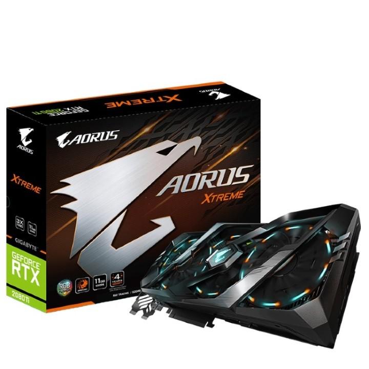 Image 1 of Gigabyte Nvidia Geforce Rtx 2080 Ti Aorus Xtreme 11G 7680X4320@60Hz 3Xdp 3Xhdmi 1Xusb Type-C GV-N208TAORUS-X-11GC
