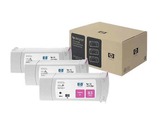 Image 1 of Hp C5074a Hp 83 Uv Magenta 3 X 680ml Multipack For Designjet 5/ 55 Series