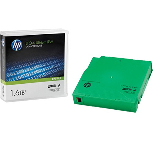 Image 1 of HP C7974A HP LTO4 ULTRIUM 1.6TB READ/ WRITE DATA CARTRIDGE C7974A
