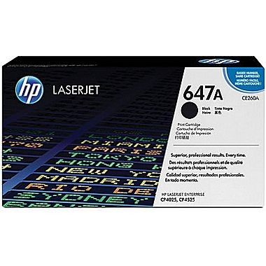 Image 1 of Hp Ce260a Clj Cp4525/ 4025 Black Print Cartridge With Colorsphere Toner CE260A