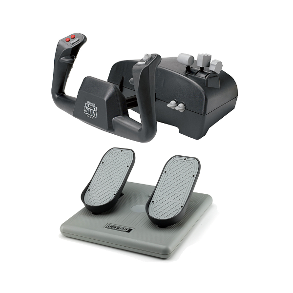 Image 1 of Ch Aviator Pack Includes Both The Flight Sim Yoke (usb) & Pro Pedals (usb) CH-AVIATOR