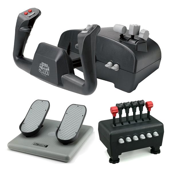 Image 1 of Ch Captain's Pack Includes Flight Sim Yoke (usb), Pro Pedals (usb) & Quadrant Throttle CH-CAPTAIN