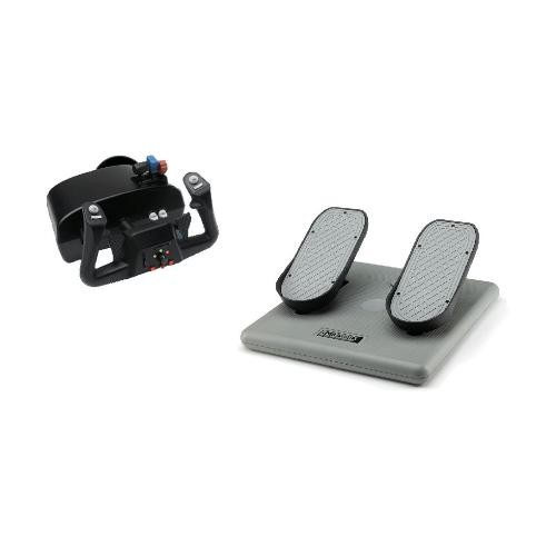 Image 1 of Ch Racer Pack - Includes Both The Eclipse Yoke For Flight & Racing Sims (usb) & Pro Pedals (usb) CH-RACER