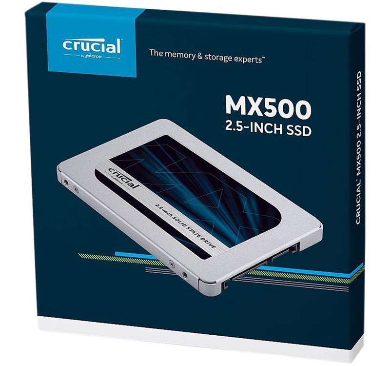 "Image 1 of Crucial MX500 1TB 3D Nand SATA 2.5"" SSD CT1000MX500SSD1, 560 Mb/s Read/ 510 Mb/s Write CT1000MX500SSD1"