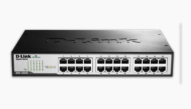 Image 1 of D-link Dgs-1024d 24 Port Copper Gigabit Switch (desktop Size) 2410 DGS-1024D