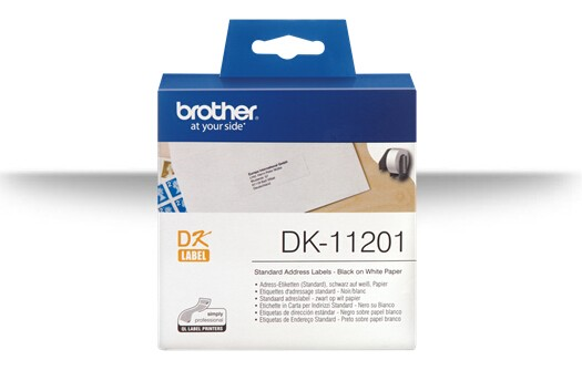 Image 1 of Brother Dk11201 White Std Address Labels, 29mm*90mm 400 Labels Per Roll DK-11201