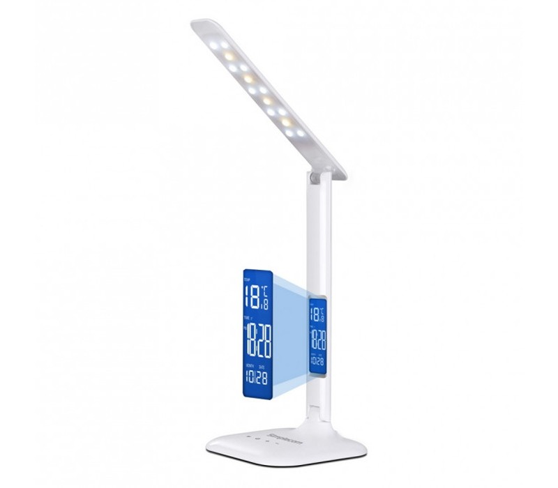 Image 1 of Simplecom EL808 Dimmable Touch Control Multifunction LED Desk Lamp 4W with Digital Clock EL808